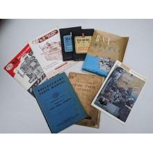 Äldre broschyrblad,handböcker m.m.