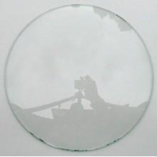 Kupat glas för golvur diam 300 mm